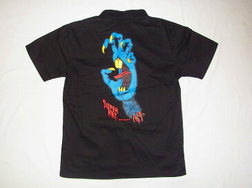 SUPER RAT スーパーラット JIM FILLIPS ジムフィリップス フルカラープリントラット ワークシャツ 黒x青x赤