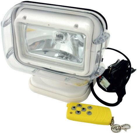 防水リモートコントロールサーチライト  ケーブルなしのワイヤレスで簡単リモコン操作 遠隔操作可能 送料無料 小型ボート プレジャーボート