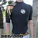 【SALE】ラッシュガード メンズ VIBE 半袖 純正 UVケア ボンバルディア 水上バイク サーフィン 正規品 水上バイク 紫外線防止 シャツ