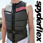 【SALE】T1 ROCK SKIN VEST ウエイクボード用 ライフジャケット メンズ WAKEBORAD スパイダー SPYDER spyderflex