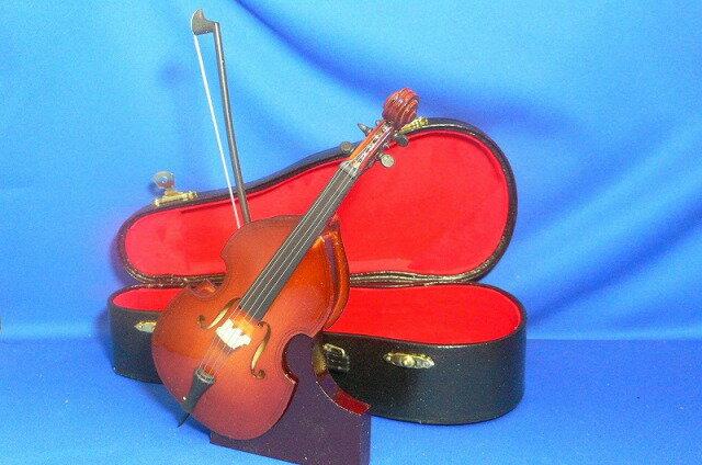 ■ミニチュア楽器 コントラバス 19cm