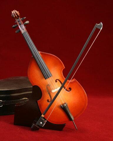 ■ミニチュア楽器 コントラバス 24cm