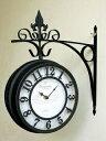 【送料無料】…オールドストリート【ボスサイドクロック/L】商品リニューアルしました♪アンティーク/両面時計/インテリア/とけい/壁掛け時計