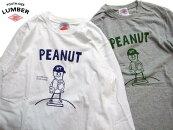 LUMBERランバーピーナツ野球少年長袖tシャツ2019lumber男女兼用ロンT192241ベースボールピーナツ
