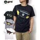 grntシャツ2021ジーアールエヌ半袖tシャツGU121121FU.S.COTTONパッグモチーフTシャツBODYBAGMOTIFTEEアウトドアtシャツ