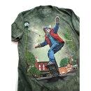 インポートtシャツスケボーキャットtシャツUSサイズタイダイ半tゆったりTシャツネコ半袖tシャツKM2102