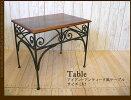 アイアン天然木アンティークテーブル台ラージサイズ
