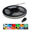 【ハイクオリティ】防水 LEDインテリアテープライト 3チップ 単体 (100V/12V兼用) 200cm