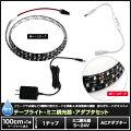 【1チップ(黒ベース)100cm×1本セット】ミニ調光器+100Vアダプター+防水LEDテープライト