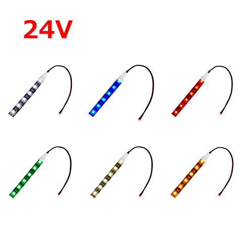 超安24V(1本入り) 防水LEDテープライト 3チップ 黒ベース 150cm
