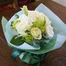 【送料無料】白い薔薇のデコールブーケ