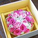 【送料無料】薔薇とカーネーションのクリームケーキ