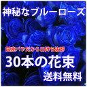 青いバラ ブルーローズ 誕生日 プレゼント 青バラ 花束 【 30本と...