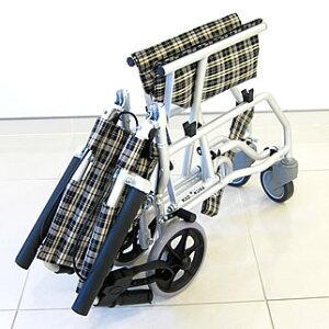 車椅子車イス車いす簡易型介護軽量折りたたみ送料無料カドクラKADOKURAネクストチェックA501-AK