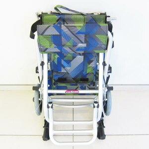 車椅子車イス車いす簡易介護軽量折りたたみ送料無料カドクラKADOKURAタッチブルーライムA502-AKBL