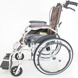 車椅子軽量折りたたみ車イス車いすモスキーボサノバストライプアルミ自走式超軽量背折れノーパンクタイヤ脚部エレーべーティング介助用A103-AKVkadokura/カドクラ