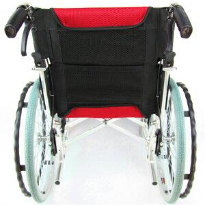 車椅子車イス車いす『Beans(ビーンズ)』スパニッシュレッド自走式コンパクト軽量ノーパンクタイヤバンドブレーキ背折れ自走介助介護用品福祉用具