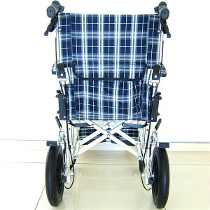 車椅子軽量折り畳み介護車イス車いす全4色送料無料ノーパンクタイヤカドクラKADOKURAクラウドネイビーチェックA604-ACBK