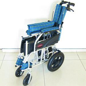 車椅子軽量折り畳み介護車イス車いす全4色送料無料ノーパンクタイヤカドクラKADOKURAクラウドブルーチェックA604-ACP
