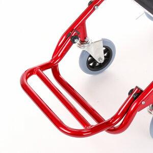 車椅子車イス車いす簡易折りたたみワイド全4色送料無料カドクラKADOKURAカットビーレッドE101-AR