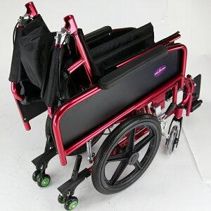 車椅子車イス車いすリクライニング折りたたみアポロンレッドA801-RDカドクラ
