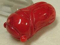 赤珊瑚彫物「蝉」48mm