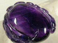 紫水晶トップ「甜瓜蝙蝠」32mm(f10)