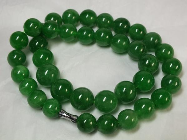 ■龍香堂■☆ミャンマー氷種翡翠(アイスジェダイト)鮮緑ネックレス