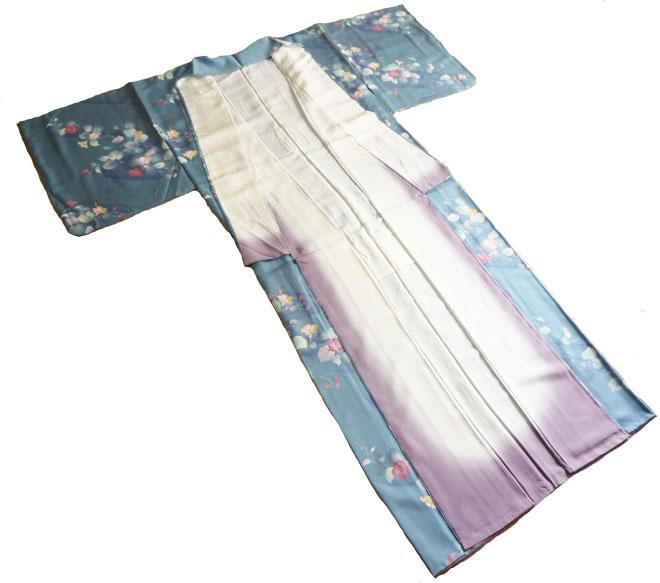 着物女性小紋単衣