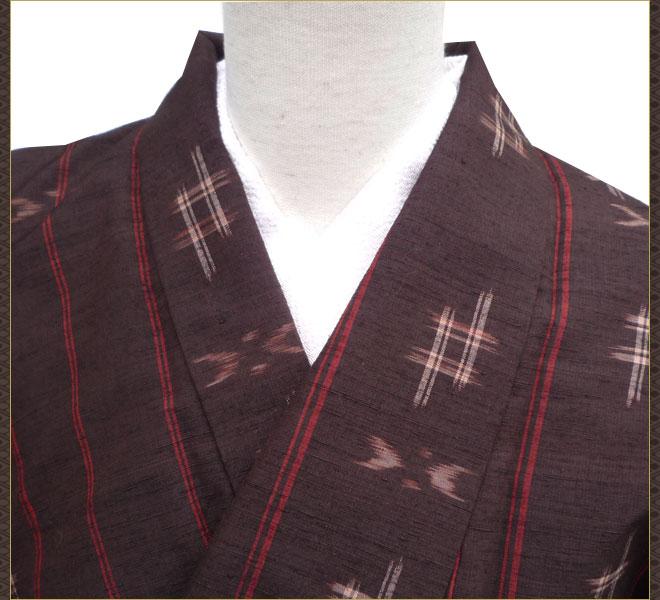 着物 単衣 絣 紬 正絹 質屋出店 リサイクル着物 中古着物 アンティーク着物