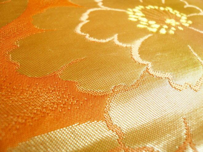 名古屋帯正絹黄色正月