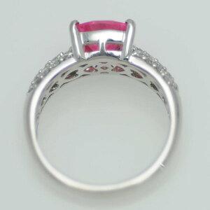 ♪リング指輪♪Pt900/ロードクロサイトR1,13ダイヤD0,39/#7,5【JR1446】【税込価格】【質屋出店】【中古】【あす楽対応】