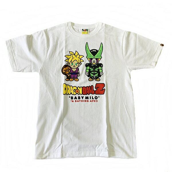 トップス, Tシャツ・カットソー Z A BATHING APEDRAGONBALLZ TBABY MILO SON GOHANCELL TEE100M2G23-110-914 SA5579