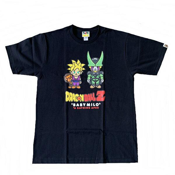 トップス, Tシャツ・カットソー Z A BATHING APEDRAGONBALLZ TBABY MILO SON GOHANCELL TEE100L2G23-110-914 SA5580