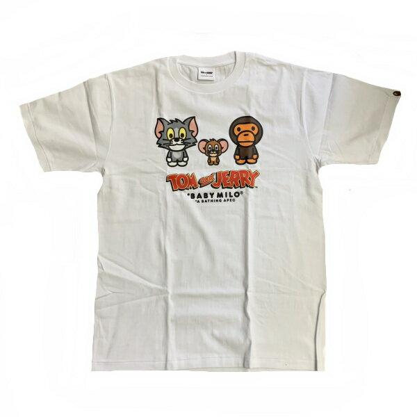 トップス, Tシャツ・カットソー  A BATHING APE TTOM AND JERRYBABY MILO TEE2100L2H23110926 SA6054