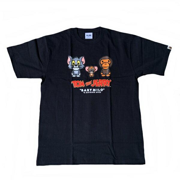 トップス, Tシャツ・カットソー  A BATHING APE TTOM AND JERRYBABY MILO TEE2100L2H23110926 SA6064