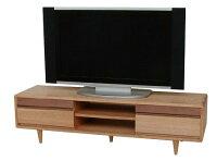 新品タモとウォールナット無垢のTVボード