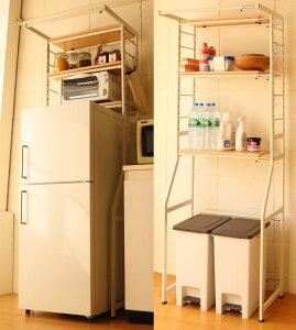 伸縮ラックSTR-5018W580〜780×D500×H1800mm冷蔵庫ラック/洗濯機ラック/ダストラック【送料無料】