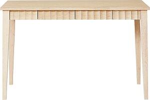 PRIVATEDESKプライベトデスク天然木集成材(ラバーウッド)SD-620ホワイトウォッシュ/ダークブラウンW1200×D500×H730