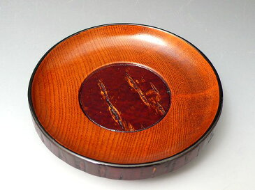樺細工 天黒 四寸茶托 1枚から 木製漆器