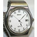 【中古】完動品セイコー紳士用クオーツのSS素材時計スピリット5P32−6230B 1ヶ月保障つき ○A12-124