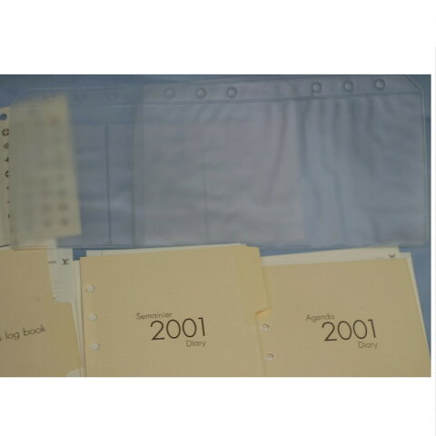 【中古】本物L/V未使用L/V2001年MMサイズ手帳カバーシステム手帳用2001年用ダイアリーと住所録カード用ファイルシール等 CC-1873-2