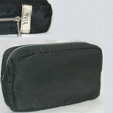 【中古】本物Ysbis男女兼用黒ナイロン素材18x11x5cmウエストバッグ