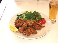 唐揚げ(骨付き・一口切り)モモ肉味付け生1キロ
