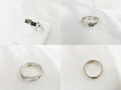 【送料無料】グッチGUCCIアイコンプリントリングK18WGロゴプリント#11.5レディース指輪【】
