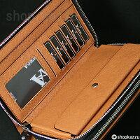 セカンドバッグメンズスペインレザー牛革メッシュダブルファスナーVACUA(4色)【VA-004】