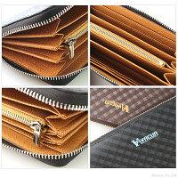 長財布メンズスペインレザー牛革メッシュ多機能ラウンド長財布VACUA(3色)【VA-005】
