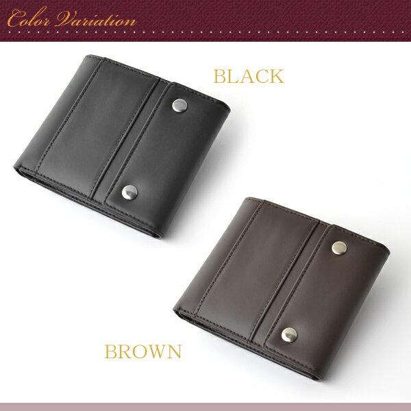 【楽天市場】二つ折り財布 メンズ 機能的で実用的な牛革 ...