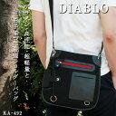 ショルダーバッグ メンズ 超軽量で大胆なデザインの個性溢れるミニショルダーバッグ DIABLO ディ ...