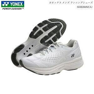 ヨネックス パワークッション ジョギング ランニングシューズ セーフランメンズ SHR200MA SHR-200MA ホワイト 靴 YONEX ヨネックス ウォーキングシューズ